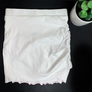 Lovers + Friends White Wrap Pink Lined Mini Skirt